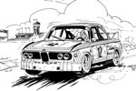 Automobil cartoon BMW CSL