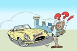 Oldtimer Illustration EU-Brief